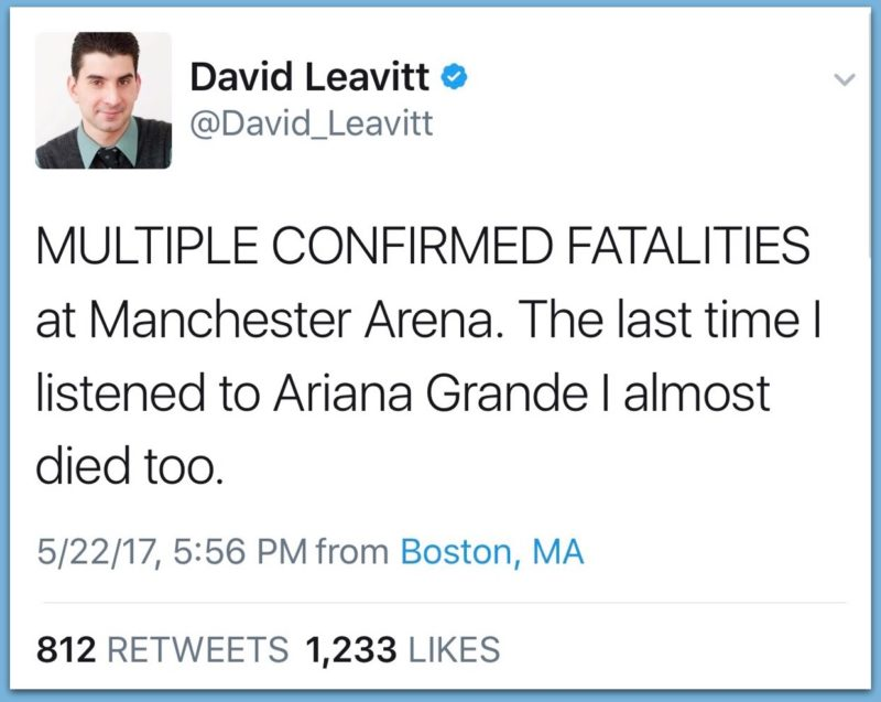 Vile CBS Reporter Makes Sickening Joke About Manchester Bombing