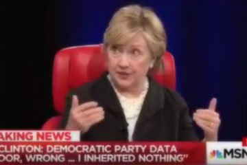 Bitter Hillary Is Now Blaming Inept DNC For Election Loss (Video)