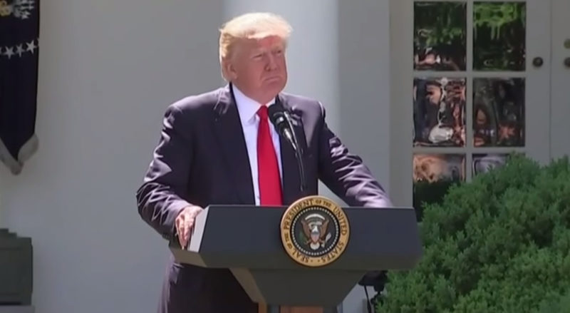 President Donald Trump: Paris Accord Is A Plan To 'Redistribute Wealth Out Of The US'