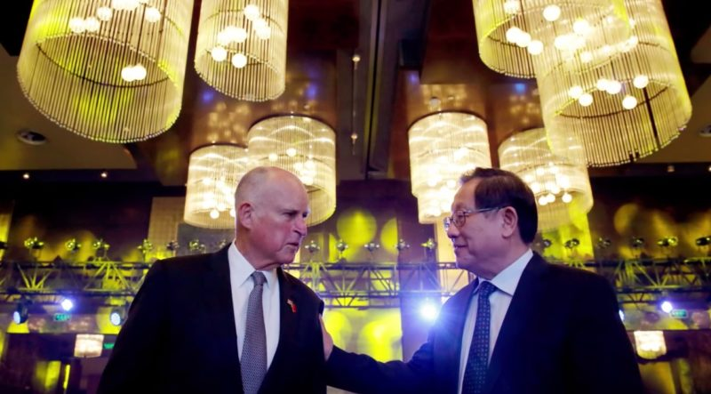 California's Governor Moonbeam Brown Plays President & Signs Climate Deal With China