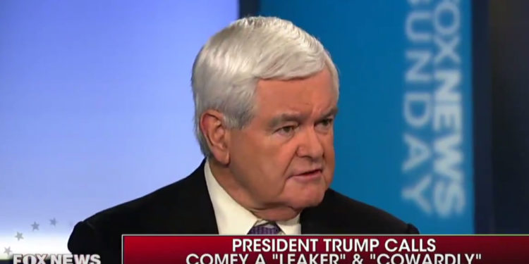 """NEWT GINGRICH KNOCKS IT OUTTA THE PARK!⚾️: """"It's a set up!""""…""""Comey Created Mueller"""" (Video)"""