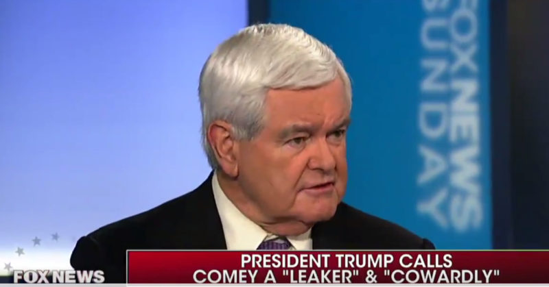 "NEWT GINGRICH KNOCKS IT OUTTA THE PARK!⚾️: ""It's a set up!""…""Comey Created Mueller"" (Video)"