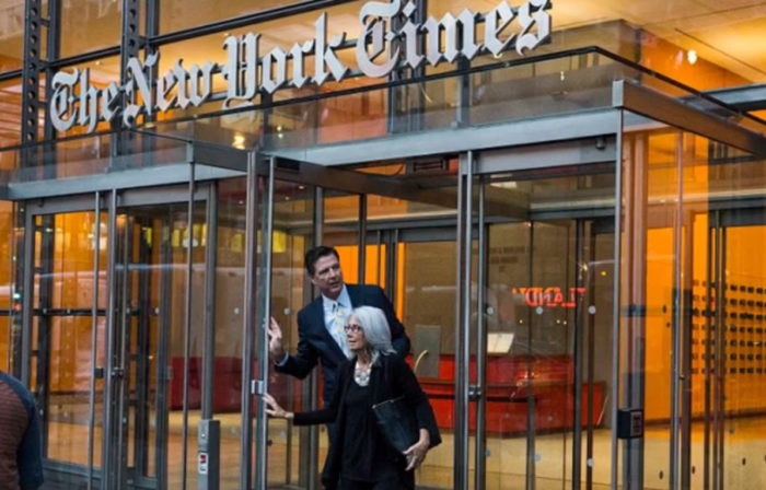 What Was Comey Doing At The NY Times Today?