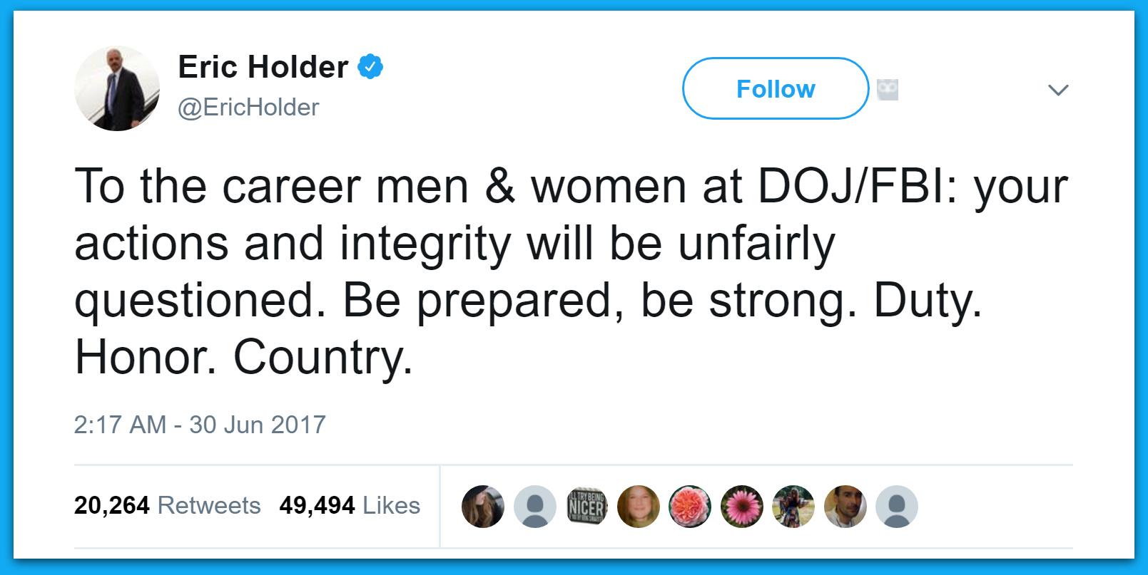 Eric Holder Sends Out Ominous Midnight Tweet