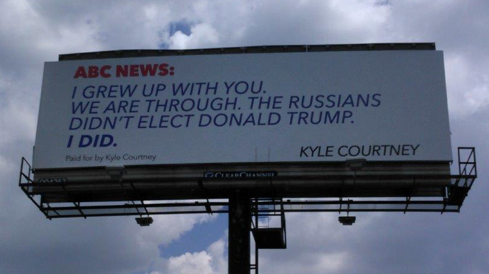 WOW! TEXAS MAN Pays For AWESOME Billboard Slamming ABC Fake News Coverage