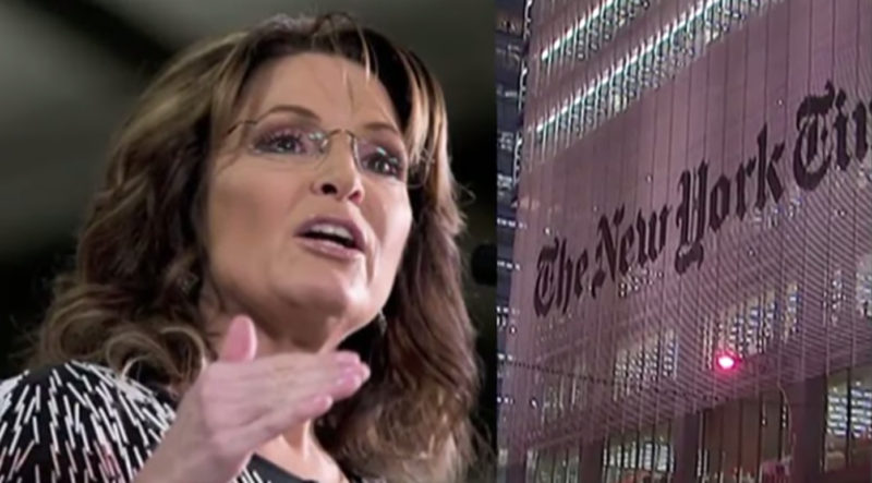 NY Times Says Blaming Sarah Palin For Shooting Was Just 'An Honest Mistake'