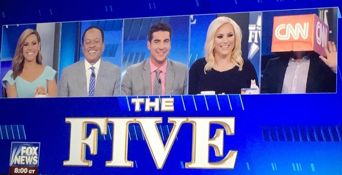 HILARIOUS! Gutfeld Wears CNN Box On His Head During 'The Five' (Video)