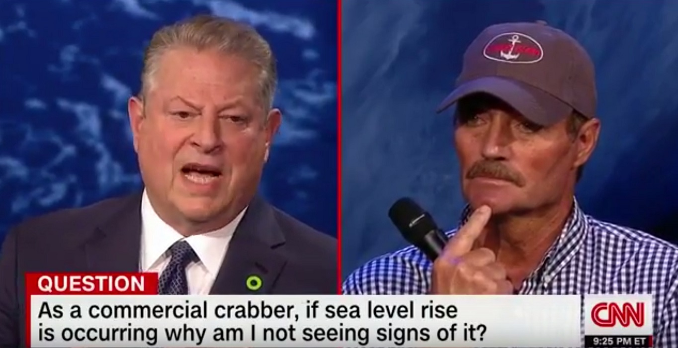 Commercial Crabber Tells Gore Sea Level Hasn't Changed Since At Least 1970