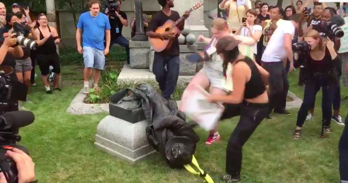 Protesters Destroy Confederate Monument In Durham County, NC