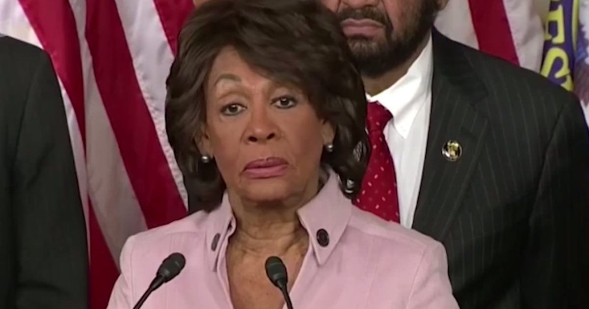 Maxine Waters Suggests President Trump Is Cheating On Melania