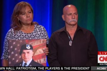 "CNN Crowd Falls Silent As Gold Star Parents Challenge Spike Lee Over NFL ""Heroes"""