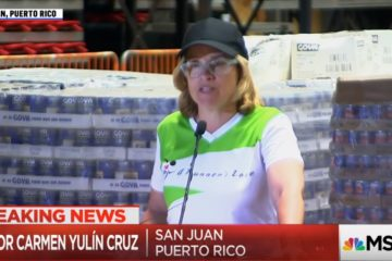 San Juan Mayor Tells Liberal Media: We Are Getting No Help From Trump... As She Stands In Front of Pallets Of Aid