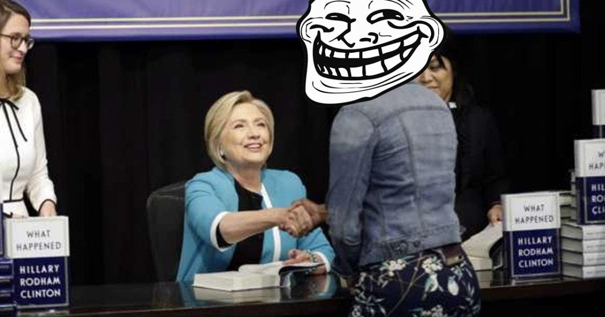 LOL! Watch Hillary & Huma Get Trolled At Book Signing