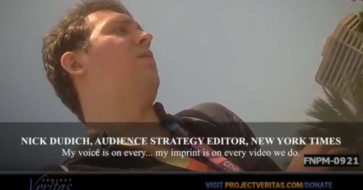 BOOM! O'Keefe Strikes Again: New Bombshell Video Takes Down New York Times
