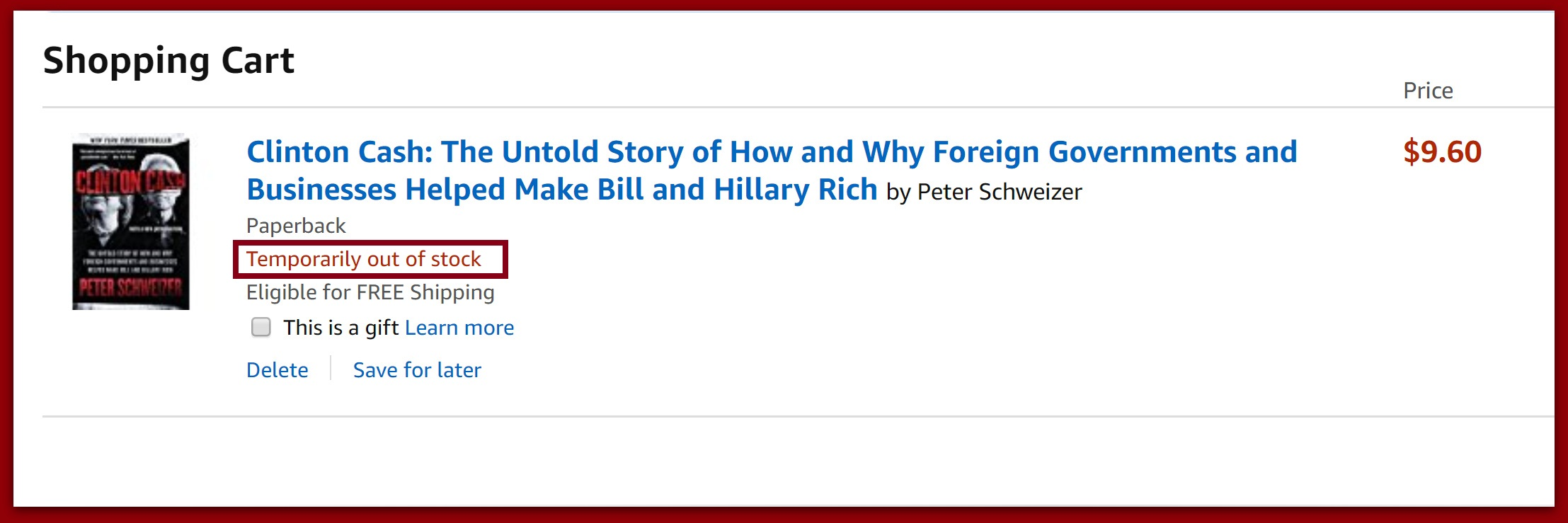 """Clinton Cash"" Sells Out Just As New Revelations On Clinton Crime Family Is Making Headlines"