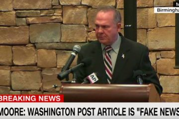"Roy Moore Blasts Fake News & WARNS: WaPo's Motivations Behind Hit Piece Will be Revealed In ""Next Few Days"" (Video)"