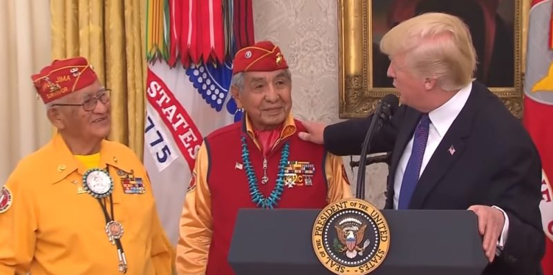 Navajo Code Talker: No, I Wasn't Offended By Trump Calling Warren 'Pocahontas'