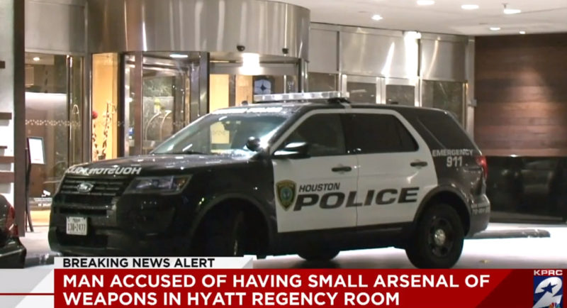 Police: Intoxicated Man Found With 'Small Arsenal' On Top Floor Of Houston Hotel With Big NYE Celebration Planned