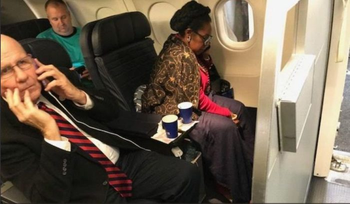 Oops! Woman Accused Of Being Racist By Democrat In Plane Spat Is A HUMAN RIGHTS Activist