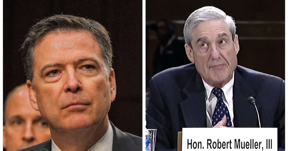 Dirty Cops Robert Mueller & James Comey Held Secret Meeting Before Comey Testified Before Congress