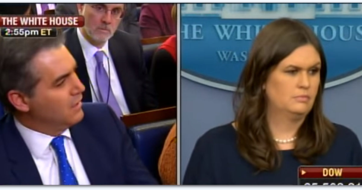 Ouch! Sarah Sanders Just Delivered The Knockout Blow To CNN's Jim Acosta (Video)