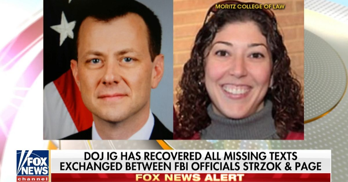 BREAKING: Missing Anti-Trump FBI Agent's Texts Have Been Found