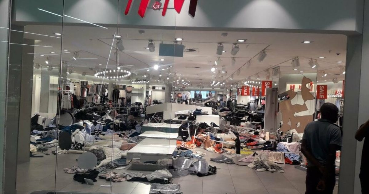 Shocking! Crazed Socialist Mobs DESTROY H&M Stores In South Africa Over Monkey Ad (Video)