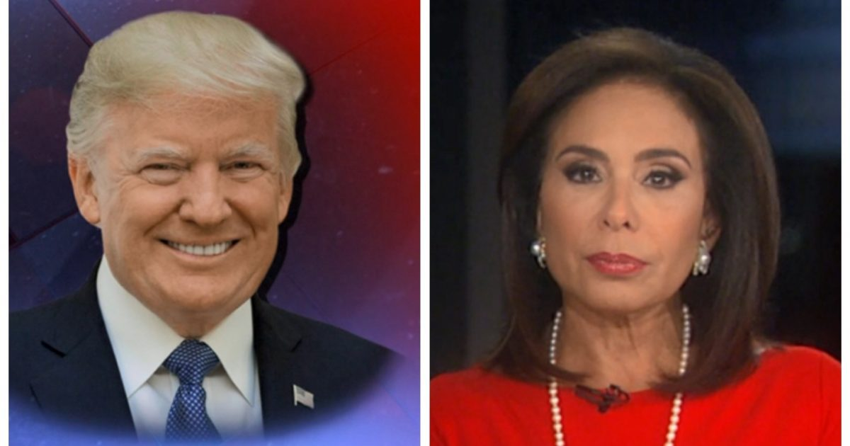 "President Trump & Judge Jeanine Take A Jab At AG Sessions: ""The Absent AG"" (Video)"