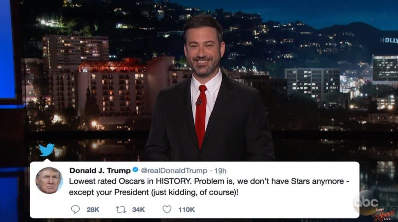 Jimmy Kimmel Panics & Blames Netflix For Worst Oscar Ratings Ever… Gets Busted LYING About Trump's Approval Ratings
