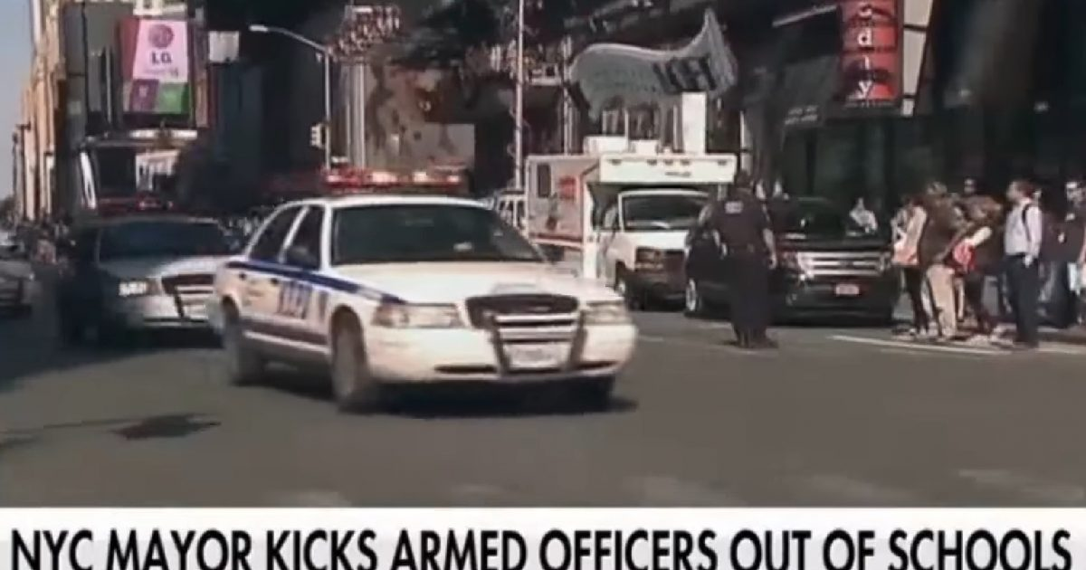 OUTRAGEOUS: NYC's Anti-Gun Mayor Bill de Blasio Kicks Armed Officers Out of Schools (Video)