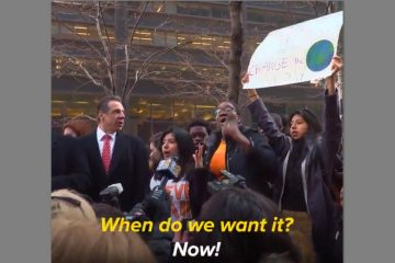 Surrounded by Armed Guards NY Gov Cuomo Takes Part in Anti-Gun Die-In Protest (Video)