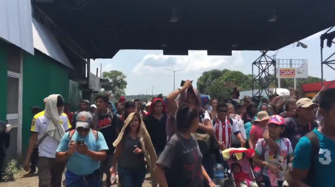 Army of Illegal Migrants Is Marching Its Way Through Mexico to U.S. Border