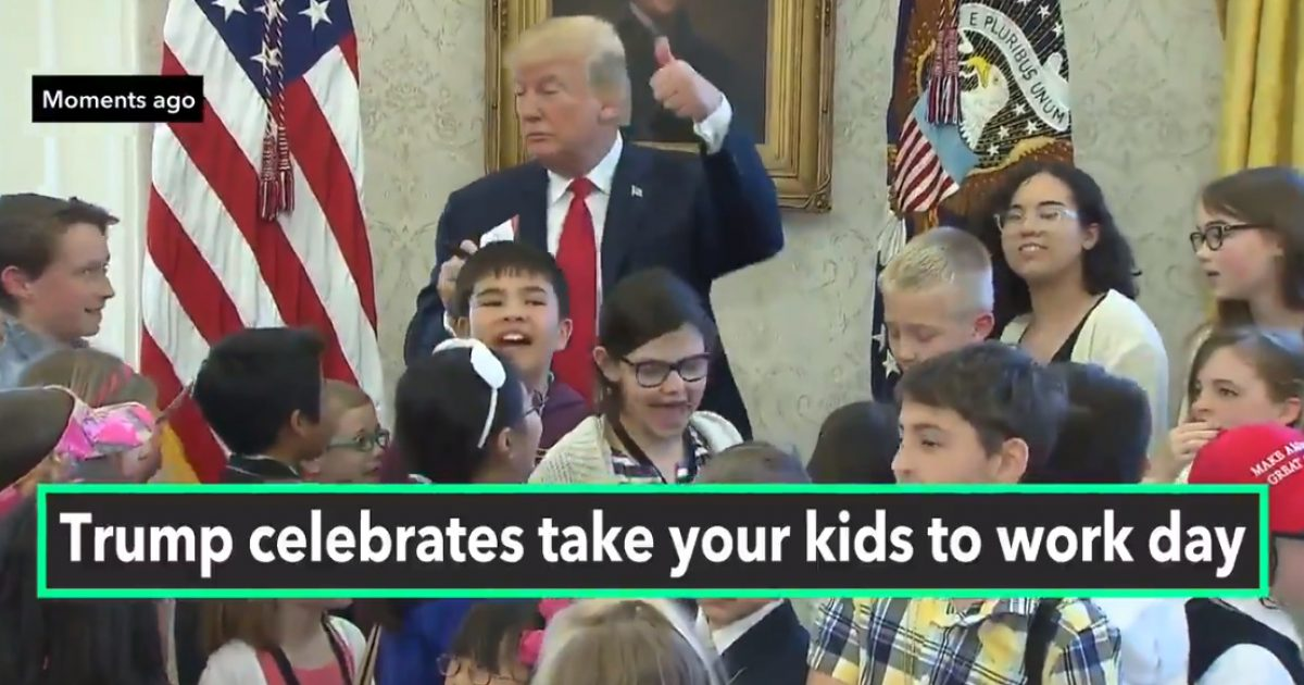 "President Trump to Reporter Kids: ""Look How Nice Your Parents Are Behaving, They're Not Screaming"" (Video)"