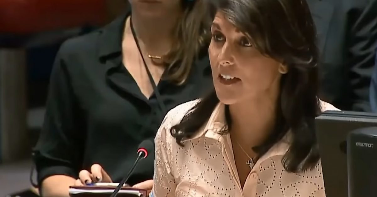 Before Palestinian Rep. Starts To Speak U.S. Amb Nikki Haley WALKS OUT Of UN Security Council Meeting (Video)