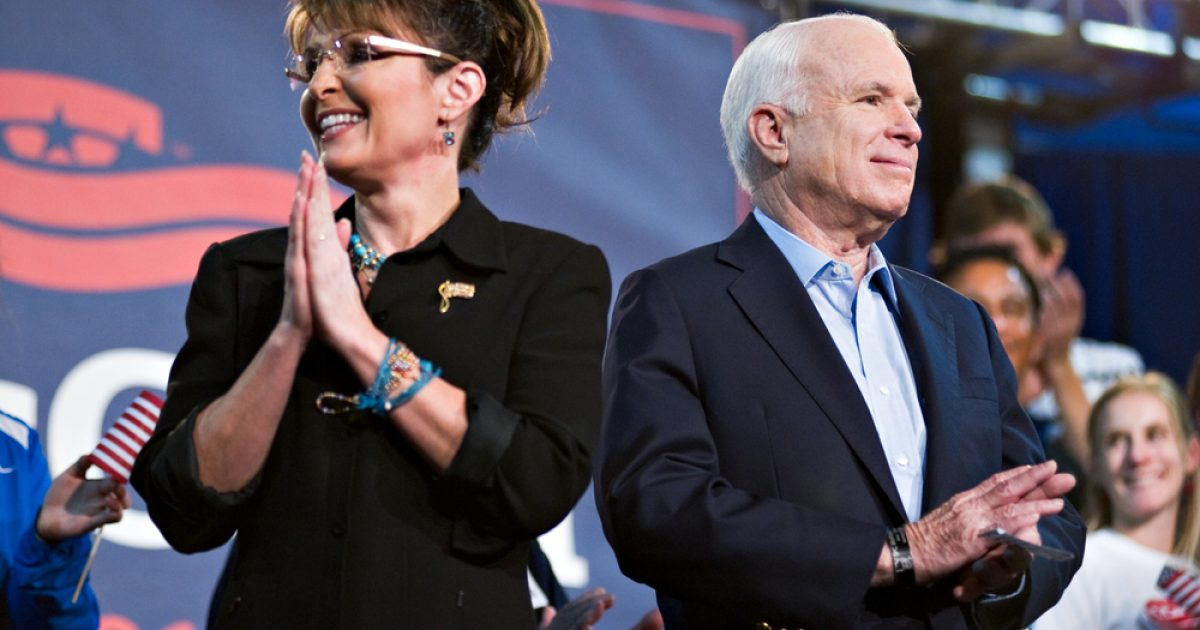 "McCain Regrets Choosing Palin As Running Mate… While Encouraging Biden To ""Stand Up"""