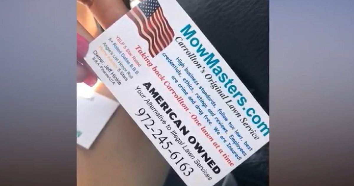 Texas Man Attacked By Liberals For Creating Hilarious 'Racist' Business Card