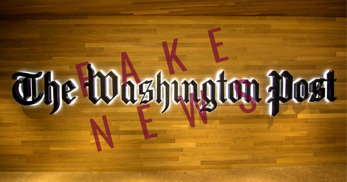 WaPo Continues To Peddle Fake News Russian Conspiracies…
