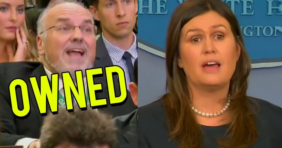 Sarah Sanders Gives Triggered Reporter A Lesson On Free Speech (Video)