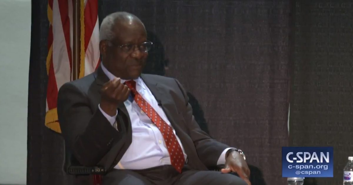 Clarence Thomas Takes A Little Jab At Cory Booker (Video)