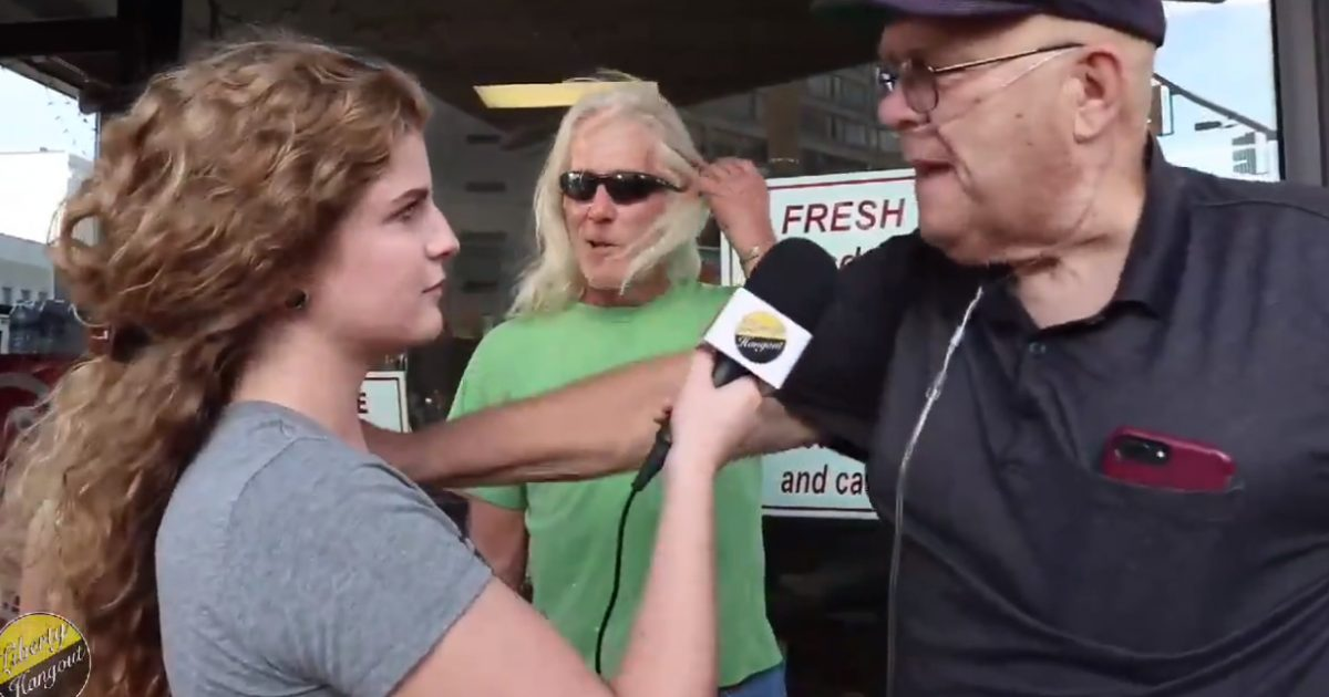 Disgusting Liberal Protester Threatens To Throw Conservative Reporter To The Ground & Rape Her