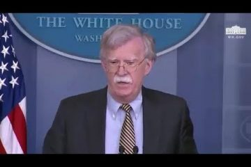 John Bolton Says Palestine 'Is Not A State'
