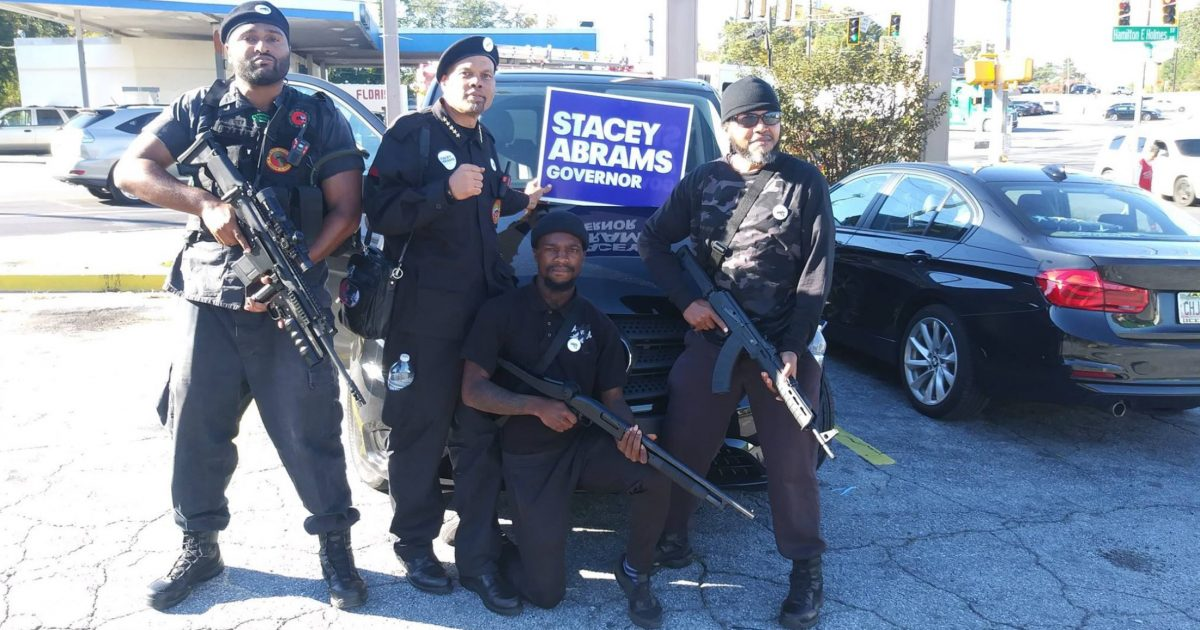 Armed New Black Panthers March For Stacey Abrams