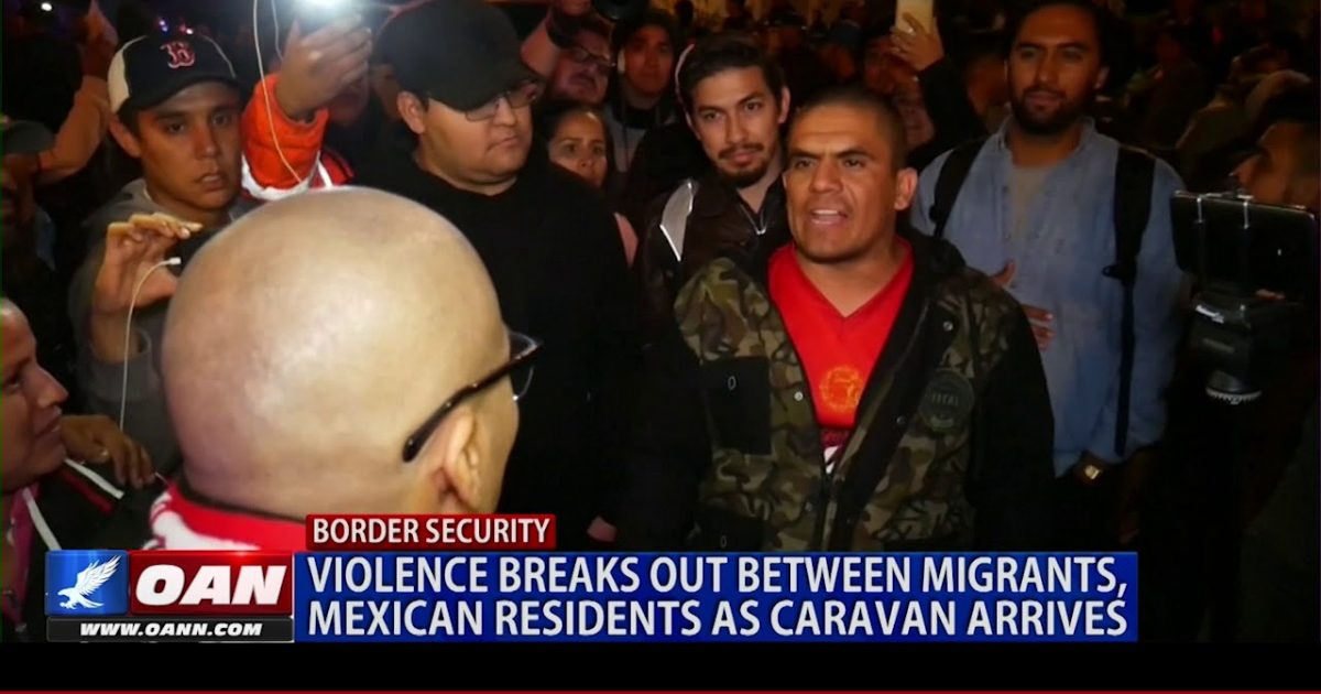 Violence Breaks Out At Tijuana Border As Migrant Caravan Arrives