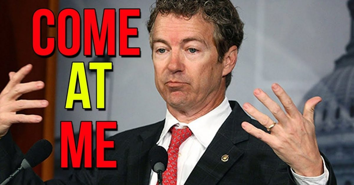 BUSTED: Rand Paul Calls Out The Deep State Trying to Run Congress