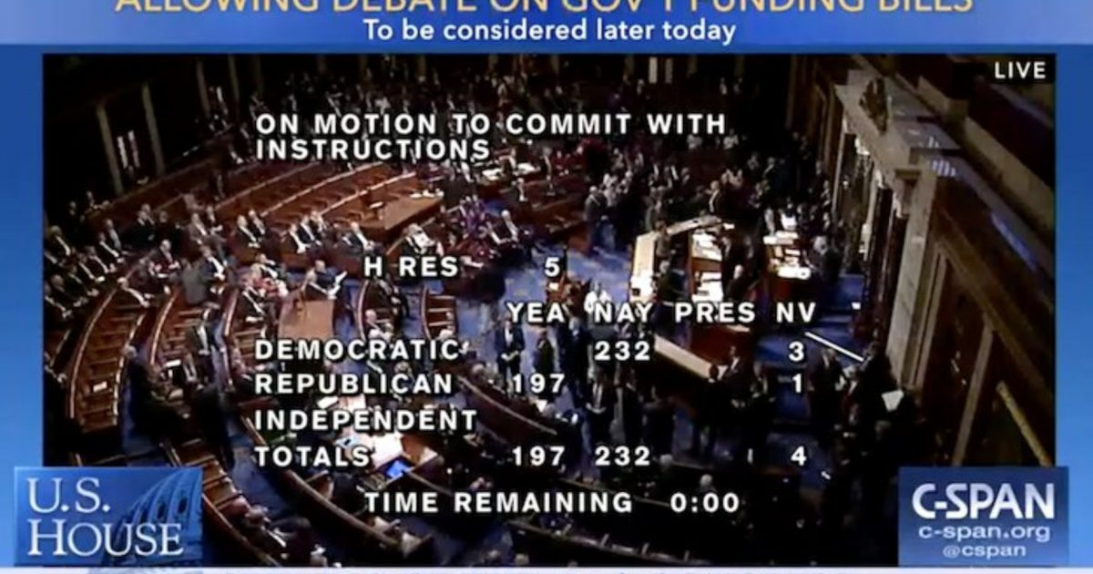 Despite Shutdown Every Democrat Voted To Leave Town After Four Hours On Job