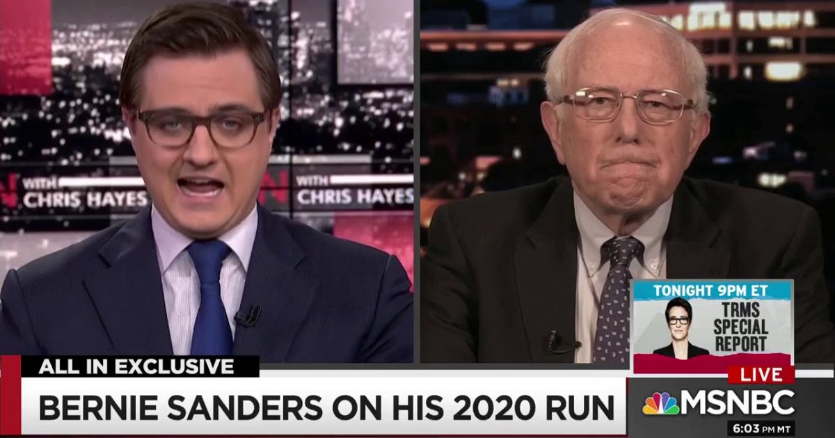 "Democratic Socialist Bernie Sanders Brags About ""Transforming"" Democratic Party"