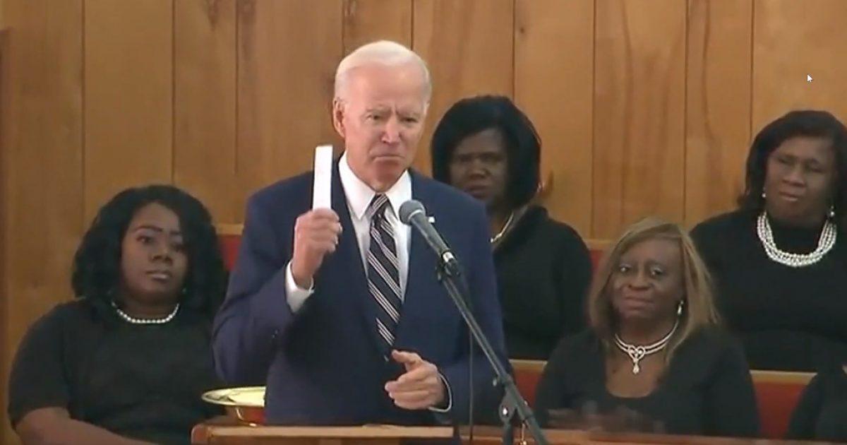 Biden Ties Trump To The KKK During Speech To Black Congregation