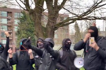 Masked Antifa Members Harass Black Conservatives In Denver On MLK Day