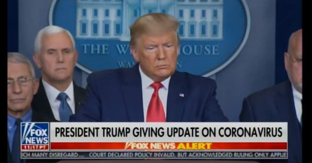 Watch MSM Accuse Trump Of Muzzling Dr. Fauci from Speaking To Reporters
