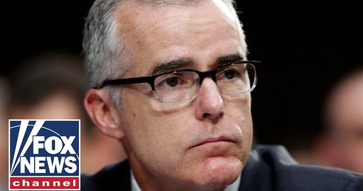 Breaking: DOJ Sends Letter Saying They Won't Prosecute Andrew McCabe